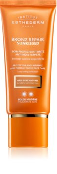Institut Esthederm Bronz Repair Sunkissed Protective Anti-Wrinkle And Firming Tinted Face Care Abtöncreme zum Bräunen gegen Falten