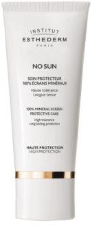 Institut Esthederm No Sun 100% Mineral Screen Protective Care crème protectrice 100 % écrans minéraux visage et corps haute protection solaire