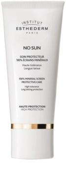 Institut Esthederm No Sun 100% Mineral Screen Protective Care protecție solară minerală 100% pentru față și corp cu o protectie UV ridicata
