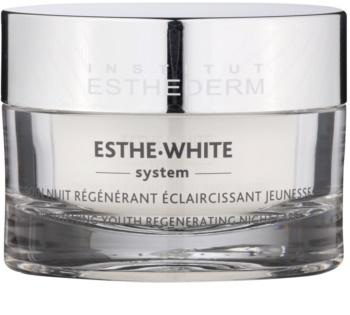 Institut Esthederm Esthe-White System creme clareamento de noite com efeito regenerador