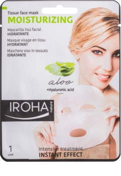 Iroha Moisturizing Aloe Aloe Vera and Hyaluronic Acid Sheet Mask