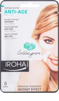 Iroha Anti - Age Collagen protivrásková maska na okolie očí a pier