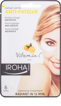 Iroha Anti - Fatigue Vitamin C masque hydrogel contour des yeux
