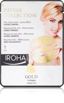 Iroha Divine Collection Gold & Collagen хидратираща и подхранваща маска  със стягащ ефект