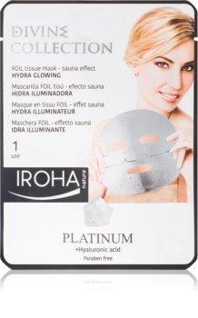Iroha Divine Collection Platinum & Hyaluronic Acid maseczka nawilżająca i rozświetlająca