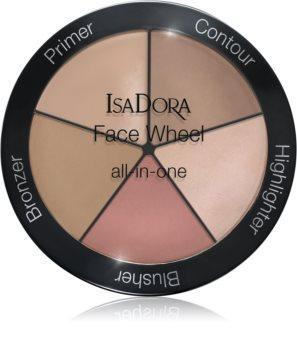 IsaDora Face Wheel Lidschatten & Kontourpalette für das Gesicht