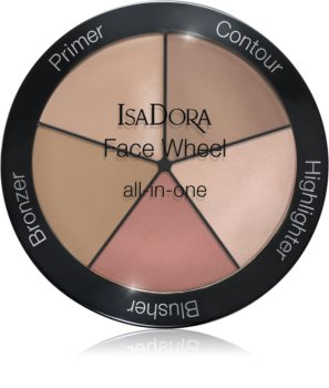 IsaDora Face Wheel multifunkciós arc paletta az arcra