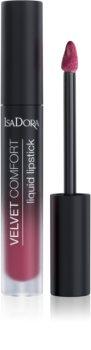 IsaDora Velvet Comfort Halbmatter Lippenstift