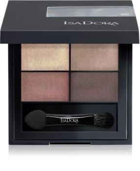 IsaDora Eye Shadow Quartet palette de fards à paupières