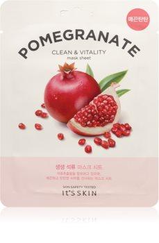 It´s Skin The Fresh Mask Pomegranate plátýnková maska pro rozjasnění a vitalitu pleti