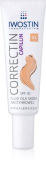 Iwostin Capillin Correctin fluide renforçant couverture longue tenue pour peaux à tendance rougissante SPF 30
