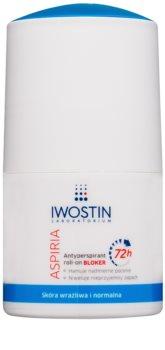 Iwostin Aspiria antitranspirante em roll-on contra a transpiração excessiva 72h
