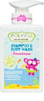 Jack N' Jill Sweetness nežni gel za prhanje in šampon za otroke 2 v 1