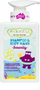 Jack N' Jill Serenity gyengéd tusoló gél és sampon gyermekeknek 2 az 1-ben
