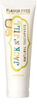 Jack N' Jill Natural pasta de dentes natural para crianças sem sabor