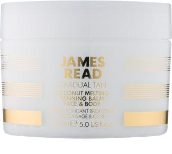 James Read Gradual Tan Coconut Melting crème auto-bronzante corps et visage à l'huile de coco