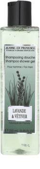 Jeanne en Provence Lavander & Vétiver gel de duche para homens 250 ml