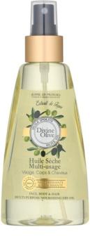 Jeanne en Provence Divine Olive Kuivaöljy Kasvoille, Vartalolle ja Hiuksille