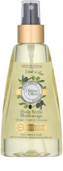 Jeanne en Provence Divine Olive Tørolie til ansigt, krop og hår