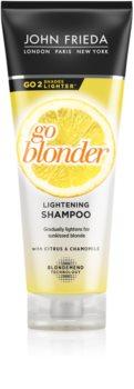 John Frieda Sheer Blonde Go Blonder világosító sampon szőke hajra