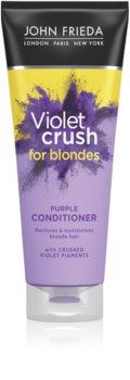 John Frieda Sheer Blonde Violet Crush condicionador com cor para cabelo loiro e grisalho
