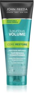 John Frieda Luxurious Volume Core Restore balsam pentru păr fin cu efect de volum