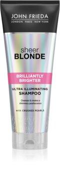 John Frieda Sheer Blonde Brilliantly Brighter šampon pro ochranu barvy blond vlasů s perleťovým leskem