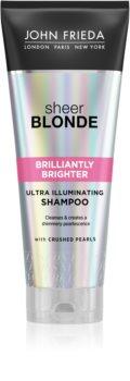 John Frieda Sheer Blonde Brilliantly Brighter szampon ochronny do włosów farbowanych na blond z perłowym blaskiem
