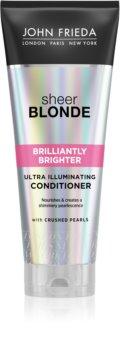 John Frieda Sheer Blonde Brilliantly Brighter balsam pentru revitalizarea parului blond stralucire de perla