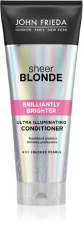 John Frieda Sheer Blonde Brilliantly Brighter Conditioner zum Belebenn von blonder Haarfarbe mit perlmutternem Glanz