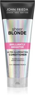 John Frieda Sheer Blonde Brilliantly Brighter hajszínélénkítő kondicionáló szőke hajra gyöngyházfényű