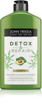 John Frieda Detox & Repair Tisztító méregtelenítő sampon a károsult hajra
