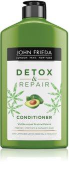 John Frieda Detox & Repair почистващ и детоксикиращ балсам за увредена коса