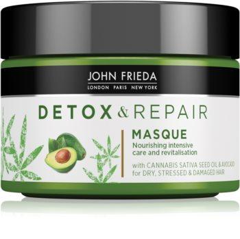 John Frieda Detox & Repair detoxikációs maszk a károsult hajra