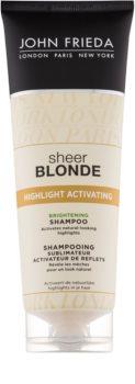 John Frieda Sheer Blonde Highlight Activating rozjasňujúci šampón pre blond vlasy