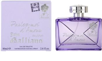 John Galliano Parlez-Moi d'Amour Encore toaletná voda pre ženy