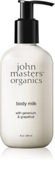 John Masters Organics Geranium & Grapefruit lait corporel apaisant