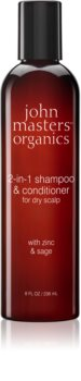 John Masters Organics Zinc & Sage Shampoo And Conditioner 2 In 1