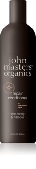 John Masters Organics Honey & Hibiscus balsam pentru regenerare pentru par deteriorat