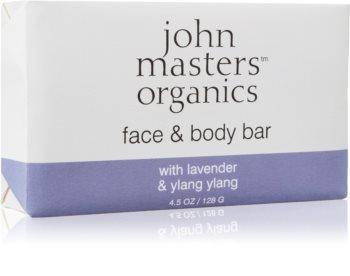John Masters Organics Lavender & Ylang Ylang Fugtgivende sæbe til ansigt og krop