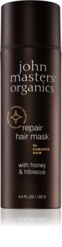 John Masters Organics Honey & Hibiscus mască regeneratoare pentru părul deteriorat
