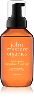 John Masters Organics Lime & Spruce sapone in mousse per mani e corpo