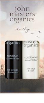 John Masters Organics Lavender Rosemary подаръчен комплект II. (за нормална коса)