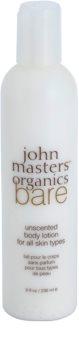 John Masters Organics Bare telové mlieko bez parfumácie