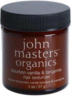 John Masters Organics Bourbon Vanilla & Tangerine stylingová pasta pro dokonalý vzhled vlasů