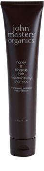John Masters Organics Honey & Hibiscus champô renovador para cabelos fortes