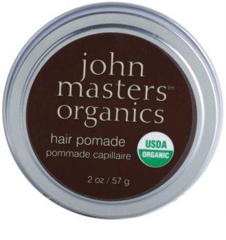 John Masters Organics Hair Pomade Pomada för mjukgörande och närande av torrt och ostyrigt hår