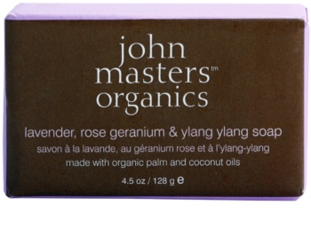 John Masters Organics Lavender Rose Geranium &  Ylang Ylang sapone idratante per viso e corpo
