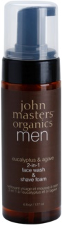 John Masters Organics Men čistiaca a holiaca pena 2 v 1