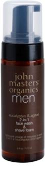 John Masters Organics Men espuma de afeitar limpiadora 2 en 1